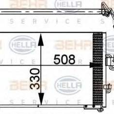 Condensator, climatizare HYUNDAI EXCEL I 1.3 - HELLA 8FC 351 037-271 - Radiator aer conditionat
