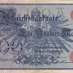 GERMANIA 100 marci 1908 VF+!!! - bancnota europa