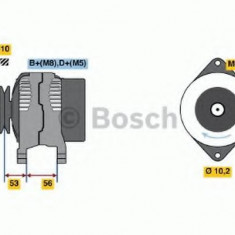 Generator / Alternator OPEL ASTRA F CLASSIC hatchback 1.4 i - BOSCH 0 986 039 570 - Alternator auto