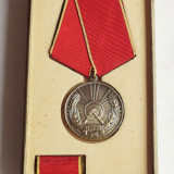 MEDALIA MUNCII RSR-IN CUTIA ORIGINALA - Medalii Romania, An: 1970