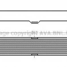Intercooler, compresor FIAT DUCATO caroserie 140 Natural Power - AVA QUALITY COOLING FT4360 - Intercooler turbo