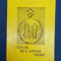 CEASUL DE-A LUNGUL VREMII * MUZEUL DE ISTORIE PRAHOVA - 1981 - Pliant Meniu Reclama tiparita