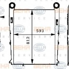 Intercooler, compresor RENAULT TRUCKS Premium Route 385.19, 400.19 - HELLA 8ML 376 724-071 - Intercooler turbo