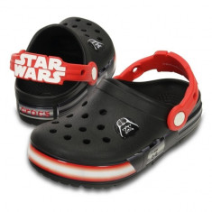 Saboti Crocs Lights Star Wars Vader Black Flame (CRC-16160-0X9) - Papuci copii Crocs, Marime: 23.5, 25.5, 27.5, 29.5, 32.5, 34.5, Culoare: Negru, Baieti