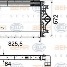 Intercooler, compresor - HELLA 8ML 376 760-401 - Intercooler turbo