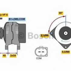 Generator / Alternator SKODA YETI 1.6 TDI - BOSCH 0 986 081 160