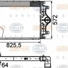 Intercooler, compresor SCANIA 3 - series bus K 113 - HELLA 8ML 376 760-421 - Intercooler turbo