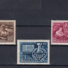 UNGARIA 1950, MI 1092/94, MNH, LOT 2 ST - Timbre straine, Nestampilat
