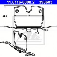 Arc, etrier frana BMW 7 limuzina Active Hybrid 7 - ATE 11.8116-0008.2 - Arc - Piston - Garnitura Etrier