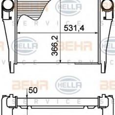 Intercooler, compresor IVECO EuroCargo 75 E 13 tector, 75 E 13 P tector - HELLA 8ML 376 758-141 - Intercooler turbo