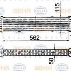 Intercooler, compresor MERCEDES-BENZ SLK 230 Kompressor - BEHR HELLA SERVICE 8ML 376 724-161 - Intercooler turbo
