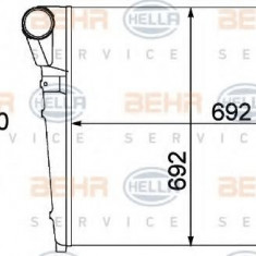 Intercooler, compresor RENAULT TRUCKS Magnum AE 420ti.18 - HELLA 8ML 376 758-171 - Intercooler turbo