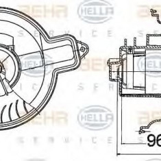 Ventilator, habitaclu CITROËN ZX 1.9 D - HELLA 8EW 009 158-101 - Motor Ventilator Incalzire