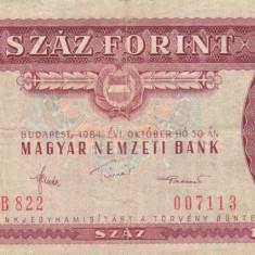 UNGARIA 100 forint 1984 VF!!! - bancnota europa