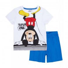 Pijama de vara Disney Mickey alb/albastru