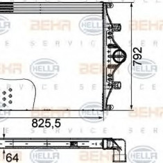 Intercooler, compresor - HELLA 8ML 376 760-411 - Intercooler turbo