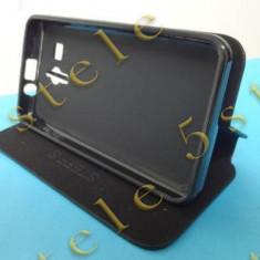 Husa Flip Stand Huawei Y5 (Y560) Negru Bulk - Husa Telefon, Piele Ecologica, Cu clapeta