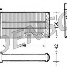 Schimbator caldura, incalzire habitaclu SAAB 9000 hatchback 2.0 -16 - DENSO DRR25001 - Sistem Incalzire Auto