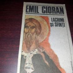 LACRIMI SI SFINTI de EMIL CIORAN,BUC.1991/TD