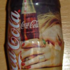 Sticla Coca Cola 330 ml de colectie , Blonda (nedesfacut)