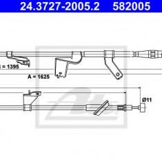 Cablu, frana de parcare SUZUKI SWIFT III 1.5 - ATE 24.3727-2005.2