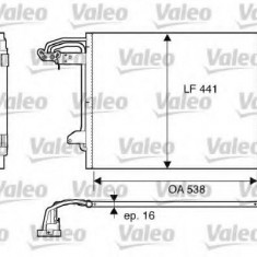 Condensator, climatizare VW TOURAN 1.9 TDI - VALEO 817806 - Radiator aer conditionat