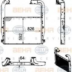 Intercooler, compresor SCANIA P, G, R, T - series G 400, P 400, R 400 - HELLA 8ML 376 756-201 - Intercooler turbo