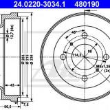 Tambur frana NISSAN SENTRA II hatchback 1.5 - ATE 24.0220-3034.1
