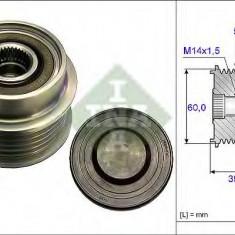 Sistem roata libera, generator TOYOTA VITZ 1.4 D-4D - INA 535 0180 10 - Fulie