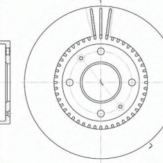 Disc frana HYUNDAI AVANTE 1.6 - ROADHOUSE 6668.10, Trw