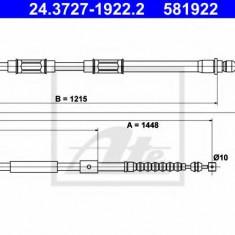 Cablu, frana de parcare TOYOTA COROLLA Wagon 1.4 - ATE 24.3727-1922.2