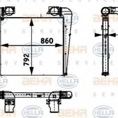 Intercooler, compresor SETRA Series 400 TopClass S 411 HD - HELLA 8ML 376 724-411 - Intercooler turbo