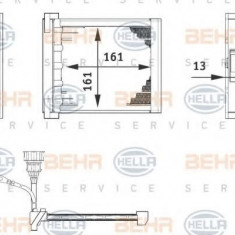 Schimbator caldura, incalzire habitaclu AUDI A2 1.4 TDI - BEHR HELLA SERVICE 6ZT 351 080-211 - Sistem Incalzire Auto