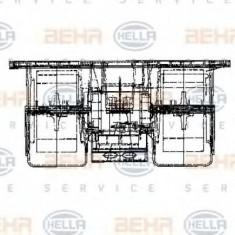 Ventilator, habitaclu RENAULT TRUCKS Magnum AE 385ti.18 - HELLA 8EW 009 160-721 - Motor Ventilator Incalzire