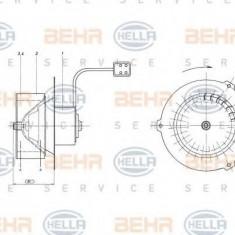 Ventilator, habitaclu MERCEDES-BENZ T2/L caroserie inchisa/combi L 408 G - HELLA 8EW 009 160-431 - Motor Ventilator Incalzire