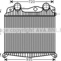 Intercooler, compresor MAN TGA 18.410, 18.420 FC, FRC, FLC, FLRC, FLLC, FLLW, FLLRC, FLLRW - AVA QUALITY COOLING MN4017 - Intercooler turbo