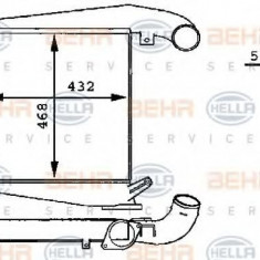 Intercooler, compresor MERCEDES-BENZ UNIMOG U 2400TG - HELLA 8ML 376 723-711 - Intercooler turbo