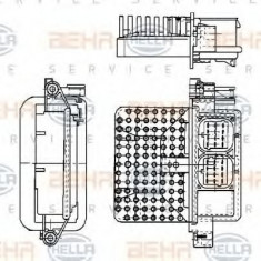 Reglaj, suflanta de interior RENAULT CLIO  1.9 D - HELLA 5HL 351 321-161 - Motor Ventilator Incalzire