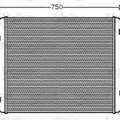 Intercooler, compresor MAN F 90 41.362 VF - VALEO 818744 - Intercooler turbo