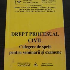 DREPT PROCESUAL CIVIL * Culegere de Spete pentru Seminarii - Viorel M. Ciobanu - Carte Drept procesual civil