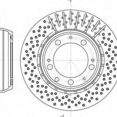 Disc frana PORSCHE 911 3.6 Carrera - ROADHOUSE 6940.10 - Discuri frana Trw