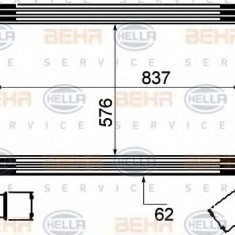 Intercooler, compresor SCANIA 4 - series 94 D/220 - HELLA 8ML 376 777-061 - Intercooler turbo