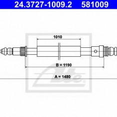 Cablu, frana de parcare RENAULT CLIO  1.2 - ATE 24.3727-1009.2