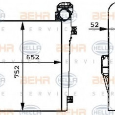 Intercooler, compresor MERCEDES-BENZ SK 1748, 1748 L - HELLA 8ML 376 724-051 - Intercooler turbo