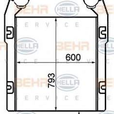 Intercooler, compresor RENAULT TRUCKS Manager G 340ti.19/T, G 330.19/T - HELLA 8ML 376 792-031 - Intercooler turbo
