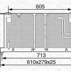 Condensator, climatizare OPEL VITA B 1.5 D - MAGNETI MARELLI 350203233000 - Radiator aer conditionat