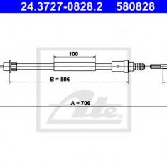 Cablu, frana de parcare PEUGEOT 406 cupe 2.0 16V - ATE 24.3727-0828.2