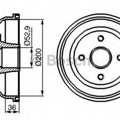 Tambur frana VAUXHALL CORSA Mk II 1.2 Twinport - BOSCH 0 986 477 134 - Saboti frana auto