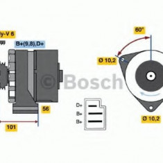 Generator / Alternator MERCEDES-BENZ E-CLASS Break E 250 Turbo D - BOSCH 0 986 033 740 - Alternator auto