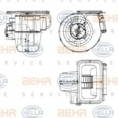 Ventilator, habitaclu MERCEDES-BENZ O 404 O 404 - HELLA 8EW 009 158-621 - Motor Ventilator Incalzire